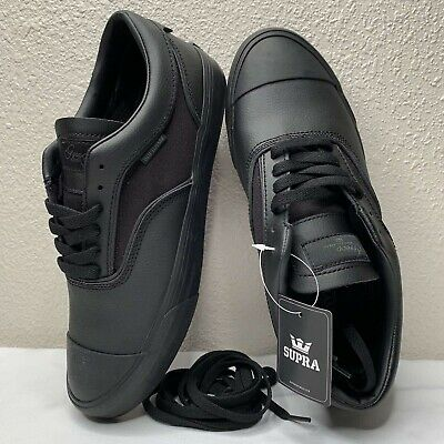 Supra Mens Hammer Low Top Jim Greco Shoes Black Leather Brand New Skate BMX
