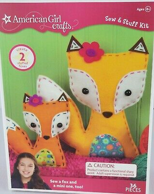 American Girl Crafts Sew - Stuff Kit 2 Stuffed Foxes 36 Pieces For You - Doll