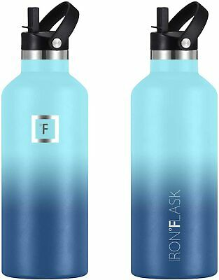Sport IRON °FLASK 12 Oz to 64 Oz Vacuum Insulated Stainless Steel Water Bottle
