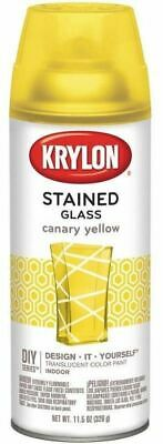 Krylon Stained Glass Spray Paint Translucent  11-5 oz Canary Yellow