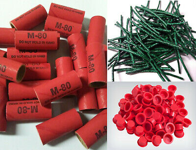 Pyro Tube Supplies Stamped M80 916 x 1-12 with plastic plugs 2550