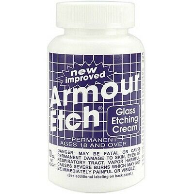 Armour Products Etch Glass Etching Cream 10 oz Craft Supply Mosaics Art Dichroic