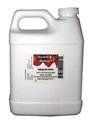 SUBLIMATIONSPRAY COATING FOR 100 COTTON 34 oz 1 liter