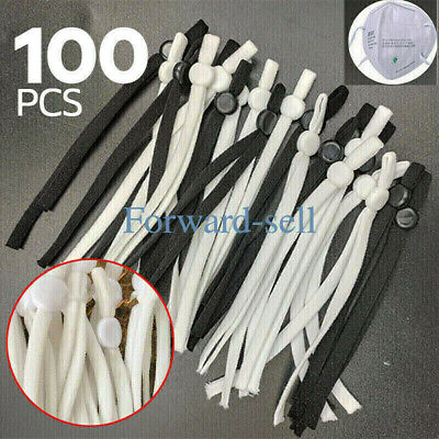 50100 PCS Sewing Elastic Band Cord with Adjustable Buckle for DIY Mask Sewing