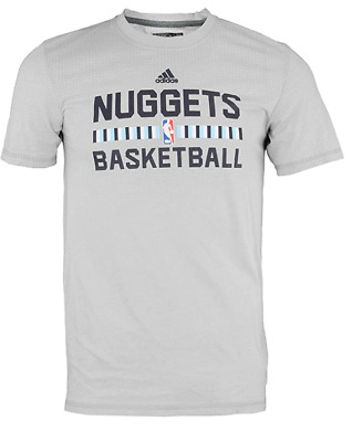 Adidas NBA Mens Denver Nuggets Aeorknit Tee Shirt Grey