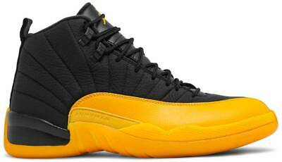 Nike Air Jordan 12 Retro University Gold Black Authentic New Mens