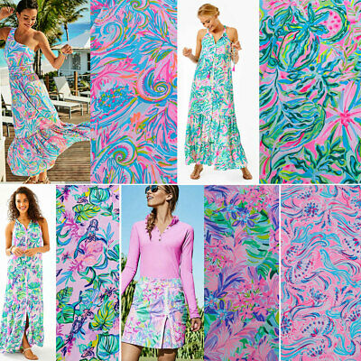 Lilly Pulitzer Polyester Lileeze Fabric BTY 36 X 57