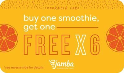JAMBA JUICE BUY ONE GET ONE FREE ANY Size 6 Times