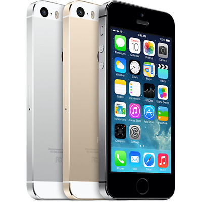 Apple iPhone 5S 16GB AT-T Cricket Smartphone Silver Gray Gold A