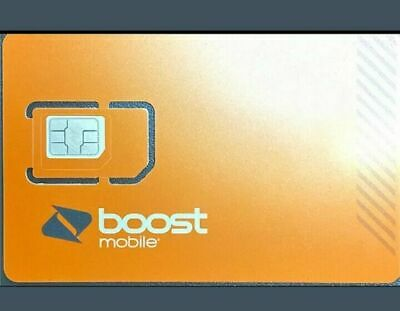 NEW EXPANDED NETWORK TN SIM Card for BOOST MOBILE - iPHONES - Android Compatible