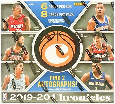 2019-20 Panini Chronicles NBA basketball Hobby Box break 2x random playersslots