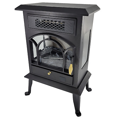 Warm-Living 1500W 17 Freestanding Infrared Stove Heater with Remote