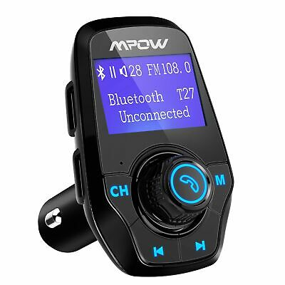 Mpow Wireless In-Car Bluetooth FM Transmitter MP3 Radio Adapter USB Charger
