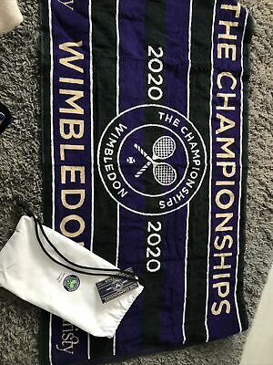 Bn Wimbledon The Championships 2020 Towel With Bag  Official