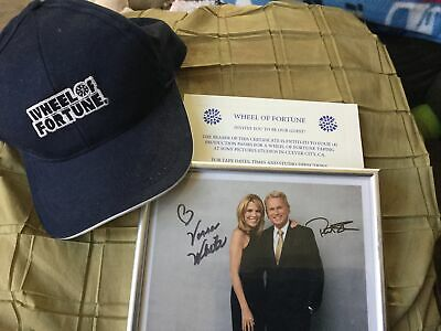 Four production passes Wheel of Fortune Culver City CA Autograph Photo - Hat