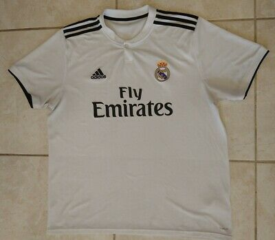 ADIDAS Climacool white Soccer Football Jersey Real Madrid Fly Emirates mens xl