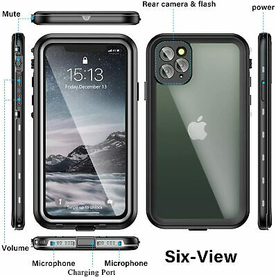 For iPhone 11 12 Pro Max Mini Waterproof Built-in w Screen Protector Case Cover