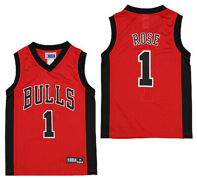 Outerstuff NBA Youth Boys Chicago Bulls Derrick Rose 1 Player Jersey Red