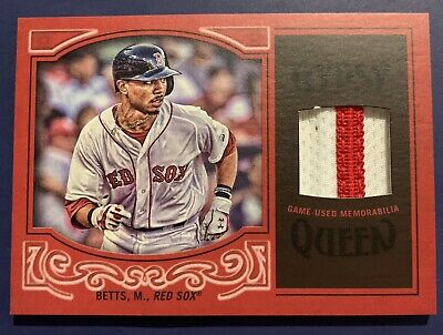 MOOKIE BETTS 2016 Topps Gypsy Queen Jersey Patch 45 Dodgers Red Sox SWEET