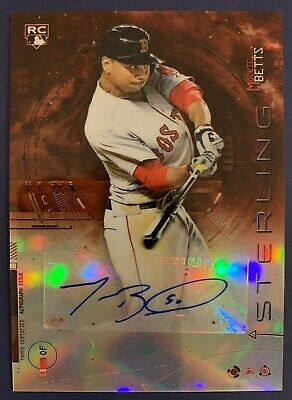 MOOKIE BETTS 2014 Bowman Sterling RC Orange Refractor Auto 7275 🔥 Dodgers WOW