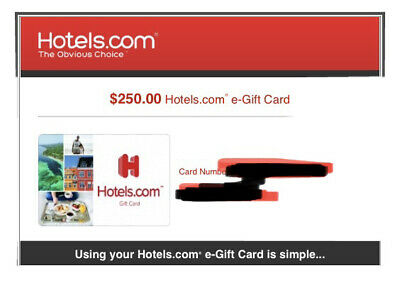 Hotels-com Gift Card - 250- Email delivery