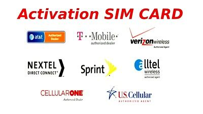 USA Activation Sim Card Verizon T-Mobile AT-T Sprint iPhone 5s 6S 7 8 X XS 11 12
