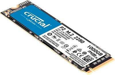 Crucial - P2 1TB PCIe Gen 3 x4 Internal Solid State Drive M-2
