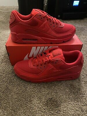 Nike Air Max 90 Men's University Red Triple Red CZ7918-600 Size 11