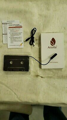 Arsvita Cassette Blue Tooth Cell Phone Adapter- Hands Free Auto Cell Phone Use