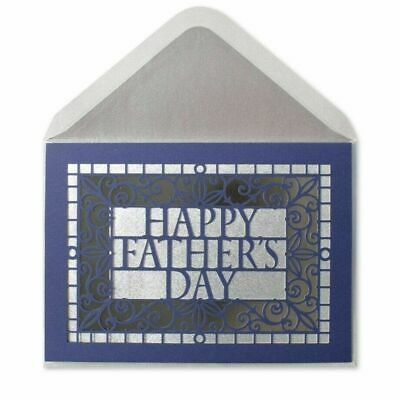 Elegant Die-Cut Classic Papyrus Fathers Day card honor wonderful person you are