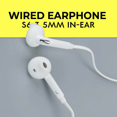 Wired Earphone S6 3.5mm In-Ear with Built-in Microphone for any Smartphone
