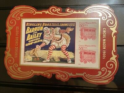 4905c Vintage Circus Posters Souvenir Sheet Rare Die Cuts from the Yearbook