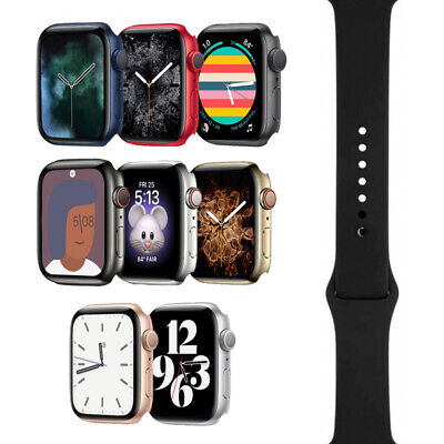 Apple Watch Series 6 - 40mm44mm - All Case Colors - Black Sport Band - GPSLTE
