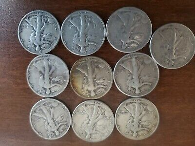 Walking Liberty 90% Silver US Half Dollar Lot of 4 Mixed Dates 50 cent