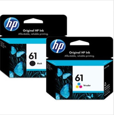 HP 61 2pack Combo Ink Cartridges 61 Black and Color NEW GENUINE