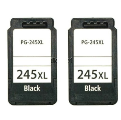 2 PACK PG245 XL Black Ink Cartridges For Canon PIXMA MG2920 MG2922 MG2924 MX492