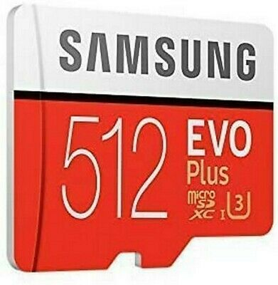 512GB Samsung Evo Plus Micro SD Card with SD Adapterd