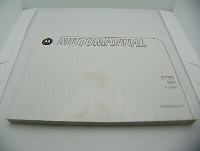MOTOROLA MOTOMANUAL C139 WIRELESS PHONE USER GUIDE ONLY ENGLISH - SPANISH