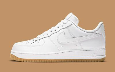 Nike Air Force 1 07 Shoes White Gum Sole DJ2739-100 Mens NEW
