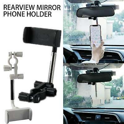 Universal 360° Car Rear View Mirror Mount Holder Stand Cradle For Cell Phone