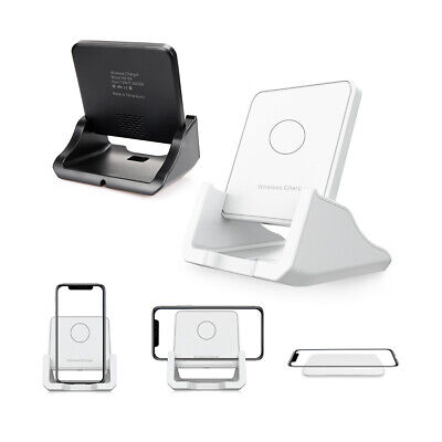 Qi Wireless 10W Charger Charging Pad Dock for iPhone Samsung Android Cell Phone