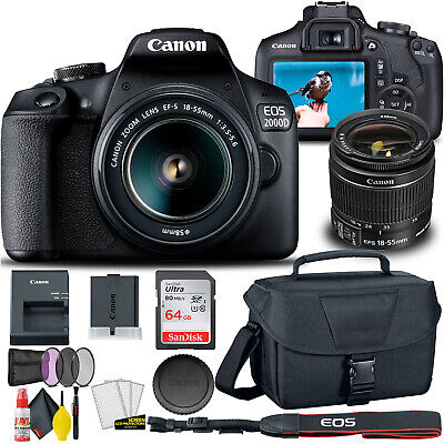 Canon EOS 2000D  Rebel T7 DSLR Camera with 18-55mm Lens  - Creative Filter