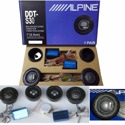 ALPINE DDT-S30 25MM 1 SOFT DOME BALANCED CAR TWEETERS 360W CROSSOVERS Systems