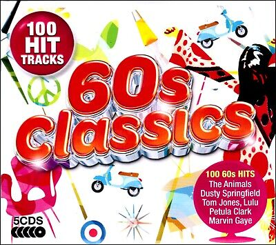 100 Greatest Hits of the SIXTIES  New 5-CD Boxset  All Original 60s Hits NEW