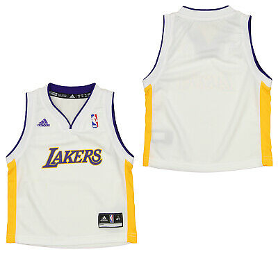 Adidas NBA Toddlers 2T-4T Los Angeles Lakers Away Jersey White