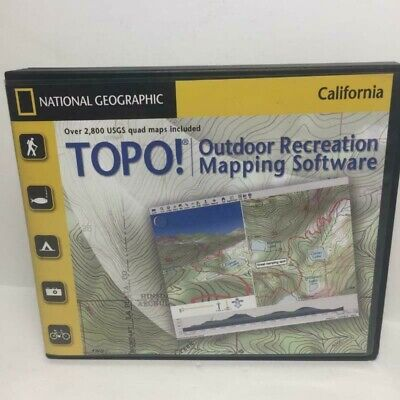National Geographic TOPO  Outdoor Recreation Map 10 CD Software California 2007