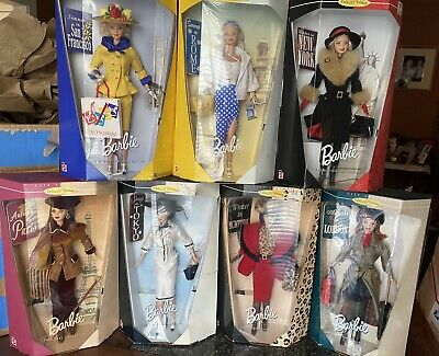 City Seasons Collector Edition Barbies - Lot of 7 - NRFB