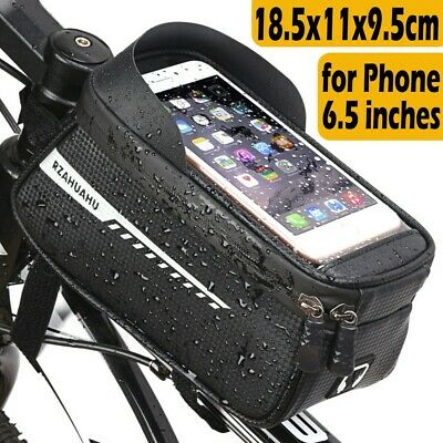 Bicycle Frame Bag Bike Front Top Tube Pouch Waterproof Phone Holder Case Cycling