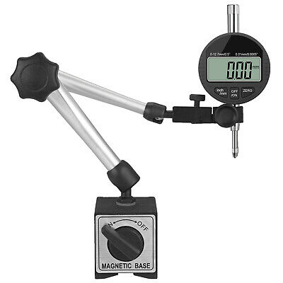 Universal Flexible Magnetic Steel Base Holder Stand Dial Test Indicator Tool US