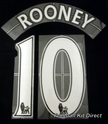 Manchester United Rooney 10 Premier League Football Name Set Lextra 7-13